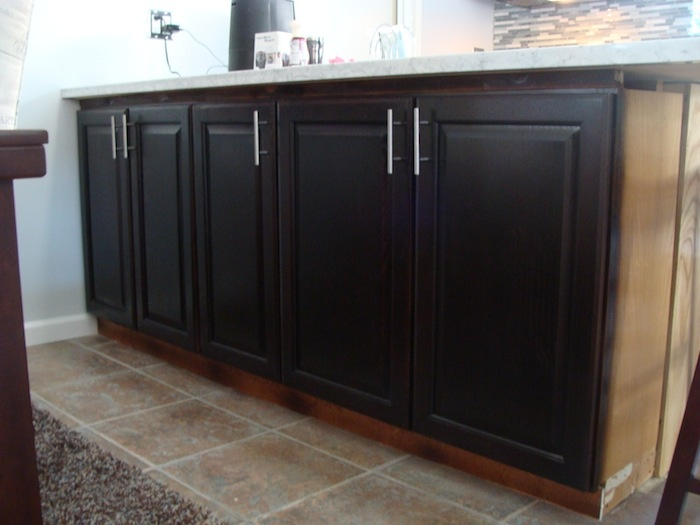 Cabinet restaining after pic by sr painting