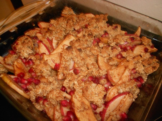 Pomegranate and Apple Crisp | Insatiably | Save Room For Dessert! | P ...