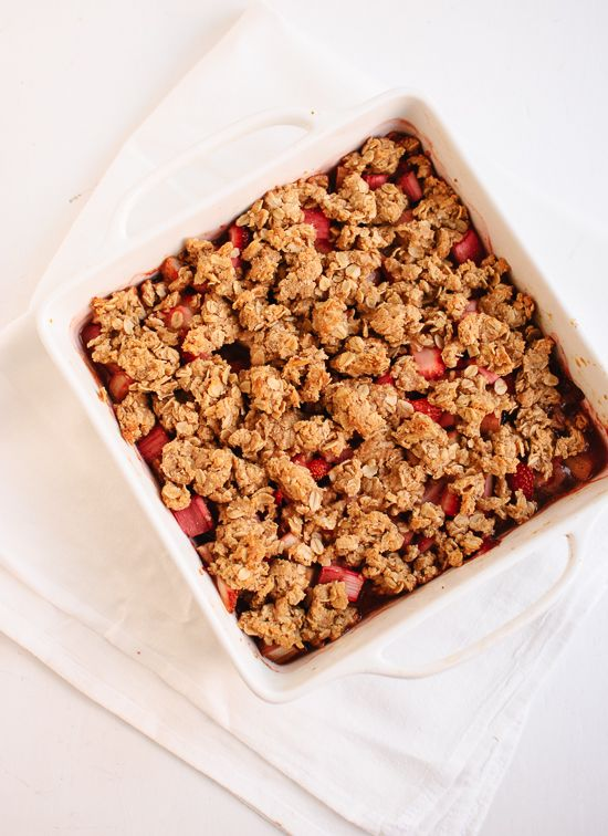 Strawberry Rhubarb Crisp from Cookie + Kate. Amazing with Strawberry ...