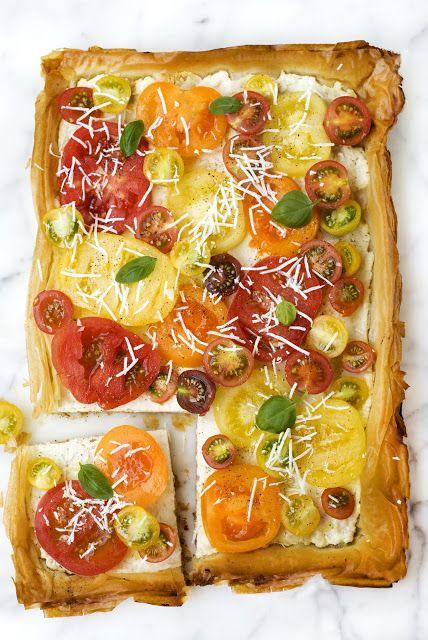 Heirloom Tomato & Ricotta Tart | Food: Dinners | Pinterest