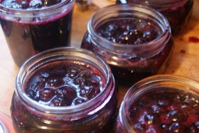 "Honey Bourbon pickled blueberries. 3"" cinnamon stick, 1t. alspice, 6 ..."