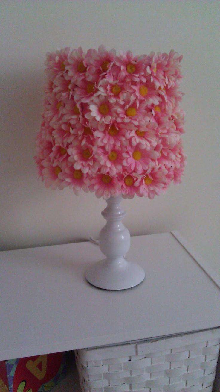 diy flower lamp shade baby girl pinterest. Black Bedroom Furniture Sets. Home Design Ideas