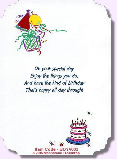 Birthday Verse Bdyv Card Verses Pinterest Birthdays Birthday Cards And Cards