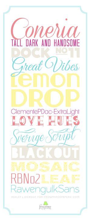 Fun new fonts
