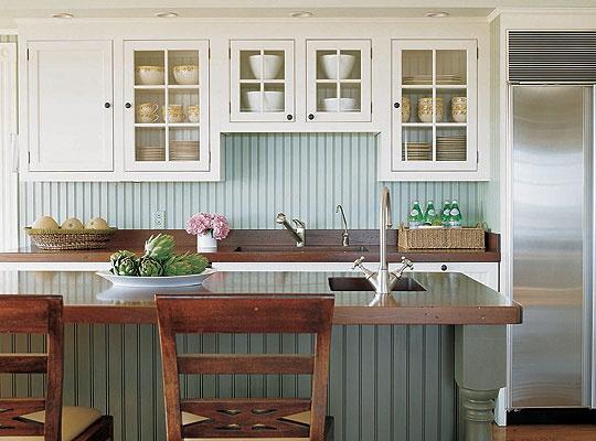 painted beadboard backsplash different color kitchen