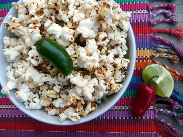 Chile Lime Spiced Popcorn - I sprinkle chili powder on my popcorn all ...