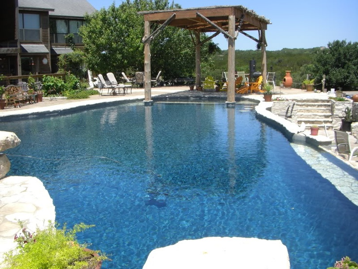 Backyard pool and spa show
