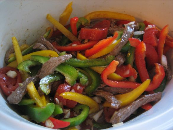 Slow cooker pepper steak | OM NOM NOM NOM...!! Savory | Pinterest