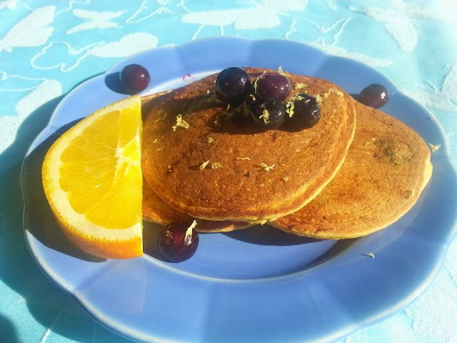 ... Dish: Coconut Blueberry Buttermilk Pancakes (Gluten and Dairy Free