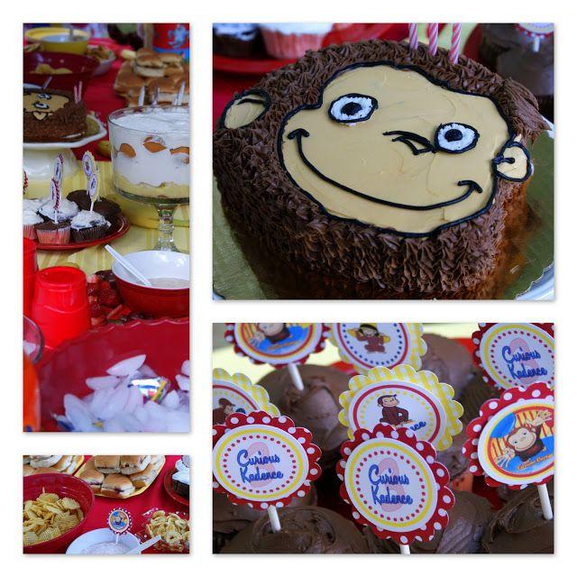 ... Chocolate and Strawberry Cupcakes Chocolate Curious George Cake Banana