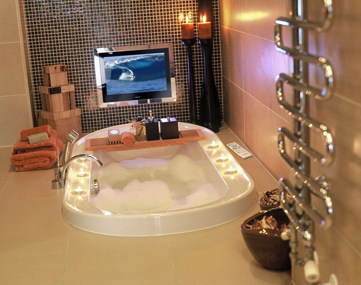 Waterproof bathroom tv waterproof bathroom tv pinterest for Tv in bathroom ideas