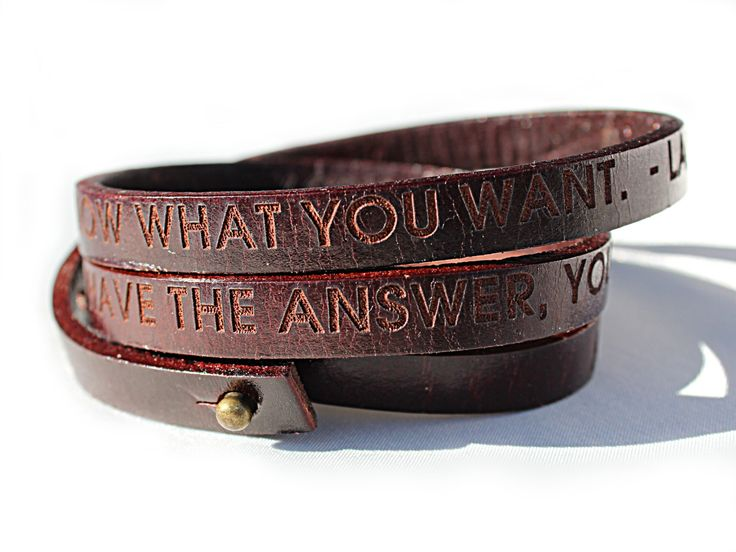 personalized brown leather wrap bracelet custom text