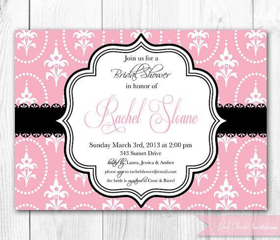 Paris bridal shower invitation paris party invitation for Paris themed invitations bridal shower