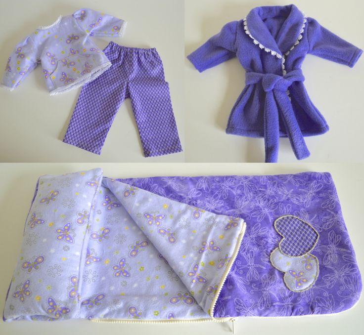 Free Crochet Pattern For American Girl Sleeping Bag : American Girl Doll PJs & Sleeping Bag For My Maddykins ...