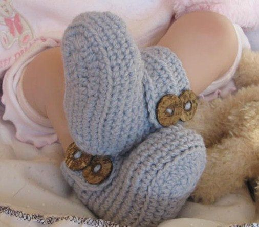 Free Crochet Pattern For Wrap Around Baby Booties : Baby Crochet PATTERN Wrap Around My Heart Booties/UGG ...