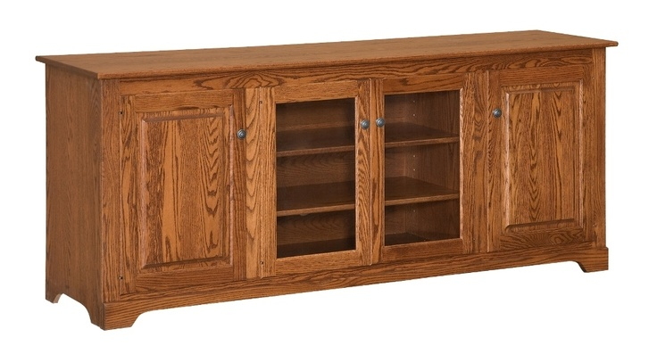 Amish Solid Wood Tv Stand 80 Console Cabinet Plasma Lcd