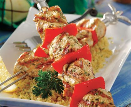Healthy Easy Lemon-Garlic Chicken Kabobs | Healthy Food I need to try ...