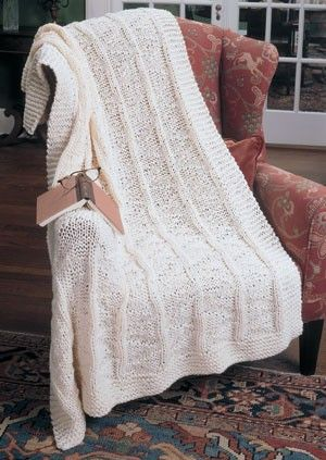 Crochet Panel Afghan Patterns : Faux Panel Knit Afghan Knitting and Crochet Pinterest