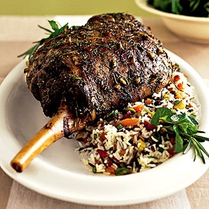 Garlic and lemon flavor this roasted leg of lamb. If you are unable to ...