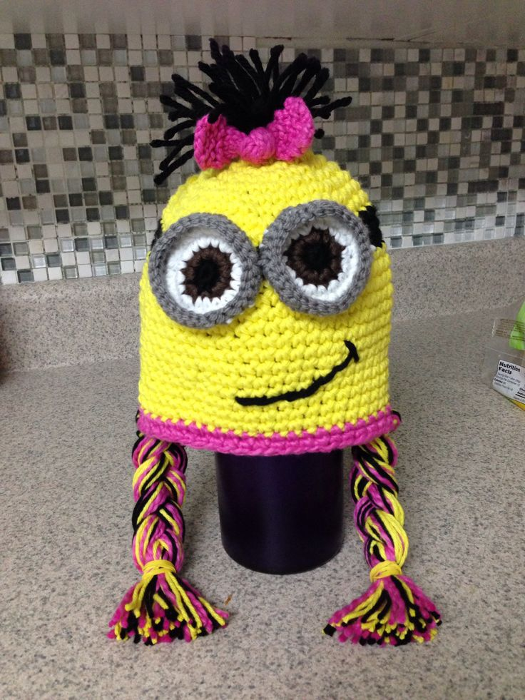 Childs Knitted Minion Hats