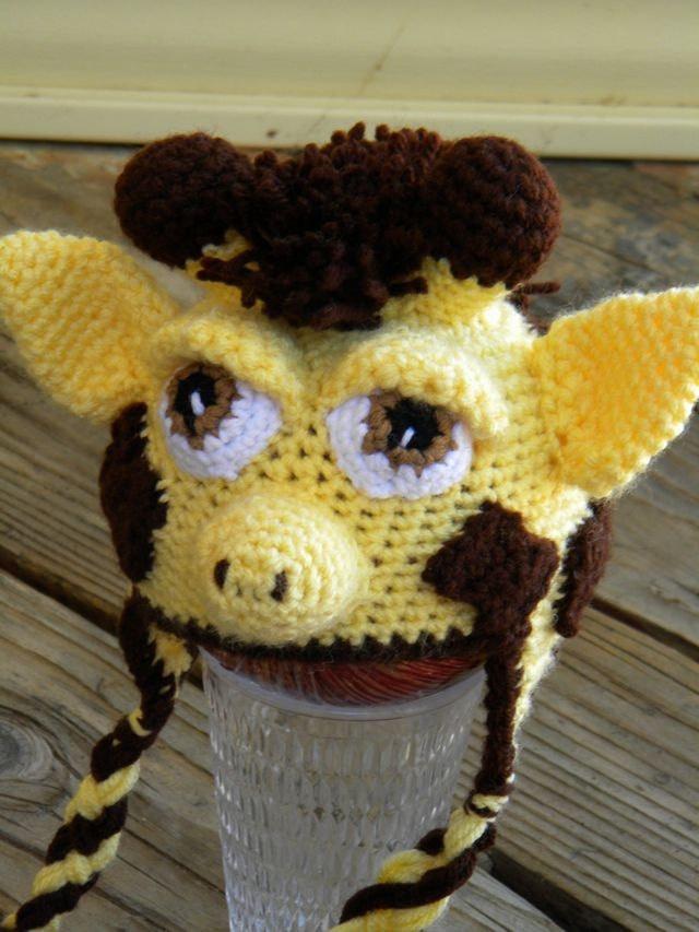 Amigurumi Earflap Hat : Crochet Pattern 025 - Giraffe Earflap Hat