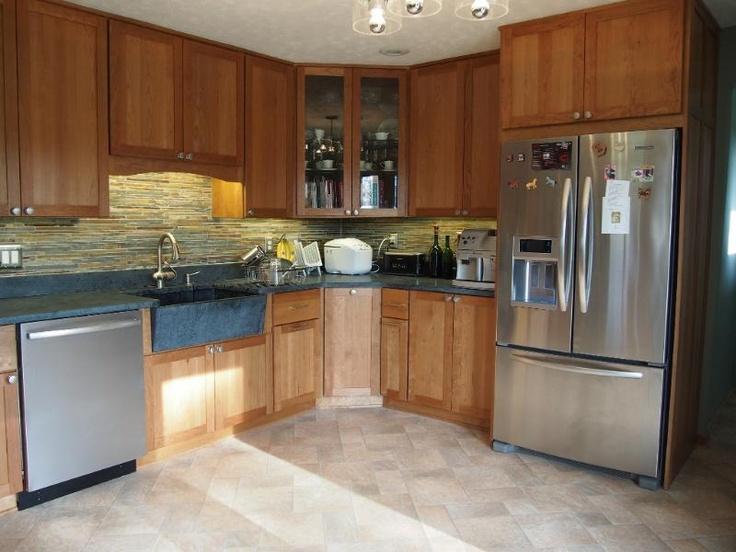 Upper corner cabinet kitchen pinterest