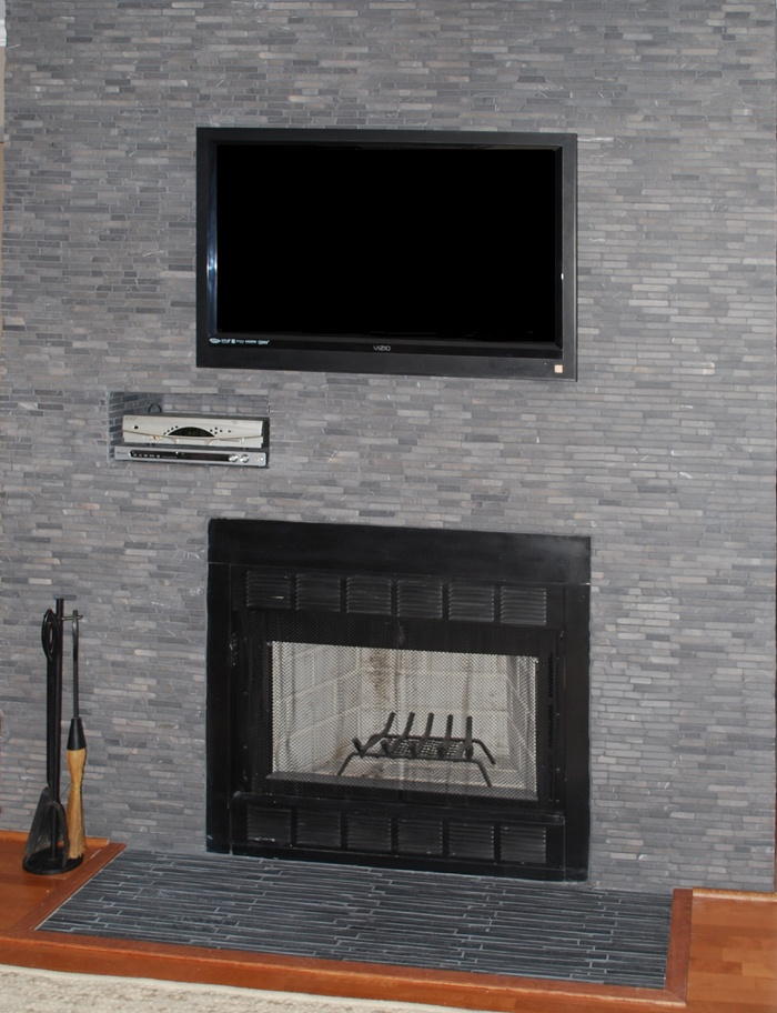 Floor to ceiling grey fireplace dream house pinterest - Floor to ceiling fireplace ...