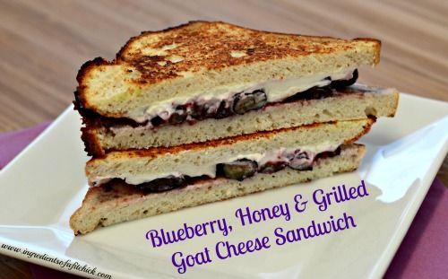 Blueberry, Honey & Grilled Goat Cheese Sandwich. Sounds so weird and ...