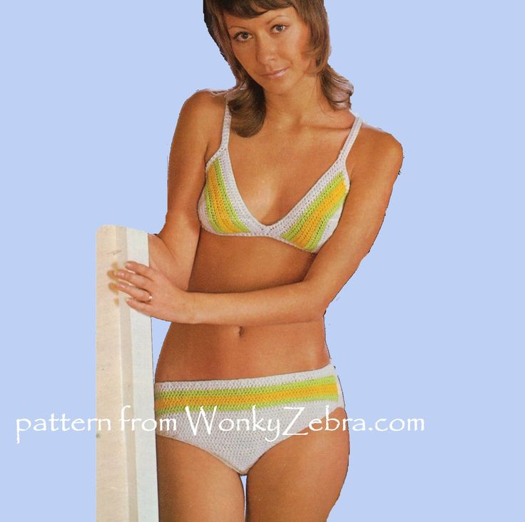 By wonky zebra on bikini patterns in crochet and knitting pinte