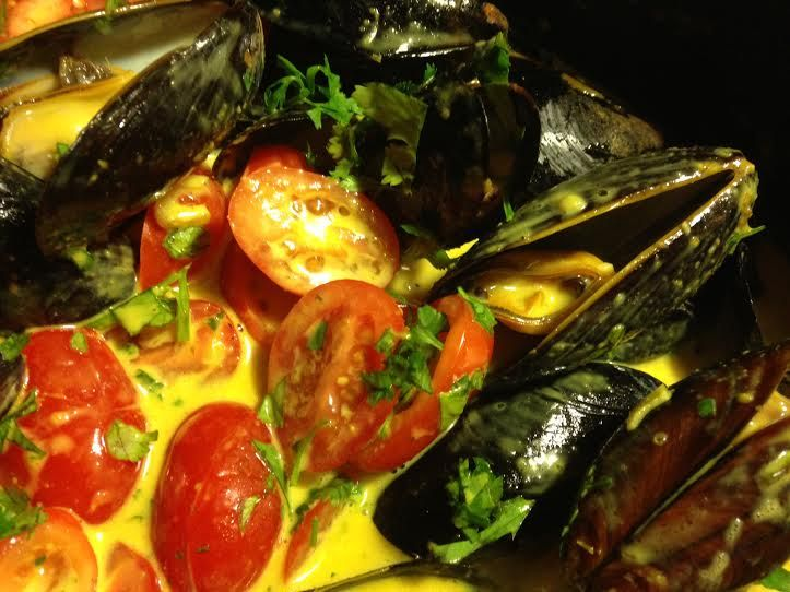 Coconut Curry Mussels | Seafood Main Dishes - To Make | Pinterest