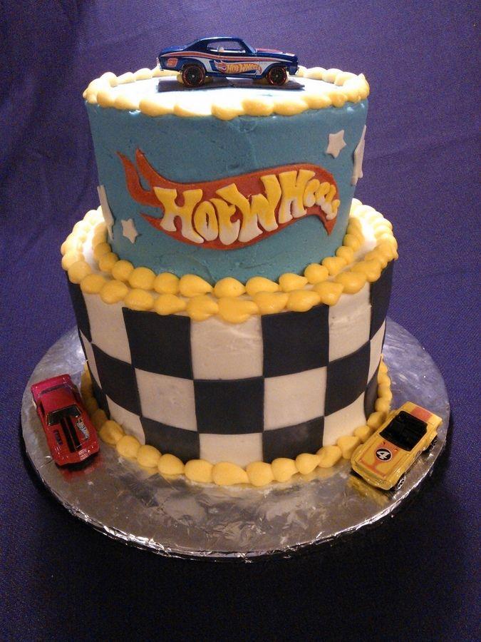 Birthday Cake Ideas Photos Hot : Hot wheels Birthday Cake Cakes- Kids birthday cakes ...
