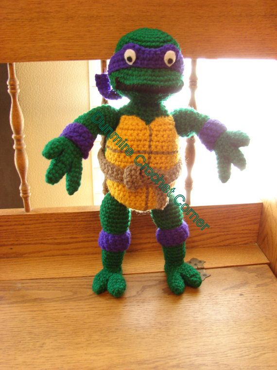 Ninja Amigurumi Free Pattern : Crochet Amigurumi Teenage Mutant Ninja Turtles Made to Order