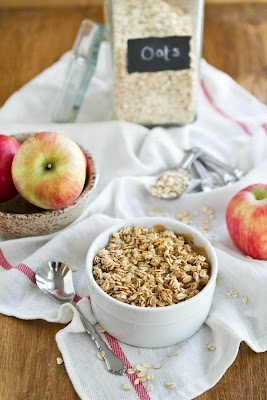 """Baked """"Apple Pie"""" Oatmeal Its in the oven now :)"""