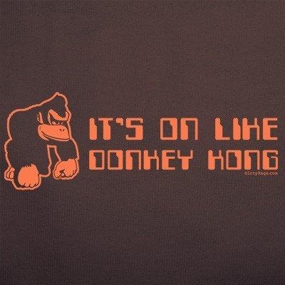 It s on like donkey kong tshirt funny atari vintage t shirt arcade