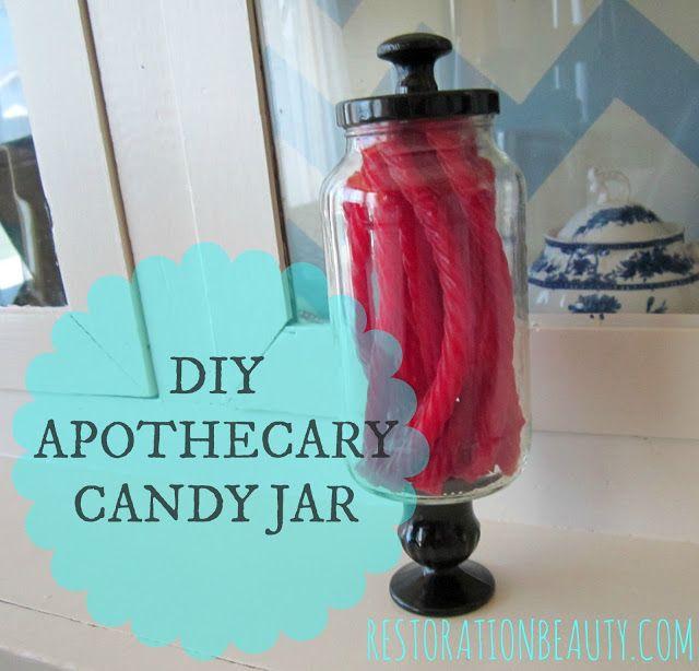 Beauty diy apothecary candy jar with spaghetti sauce jar