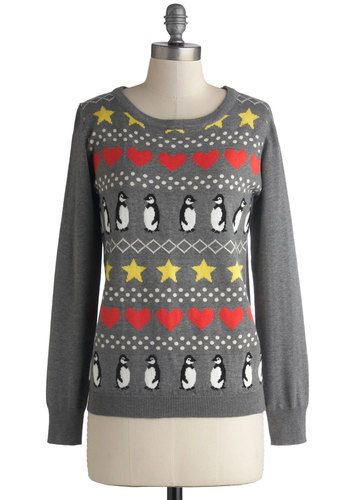 Antarctic Social Circle Sweater, #ModCloth