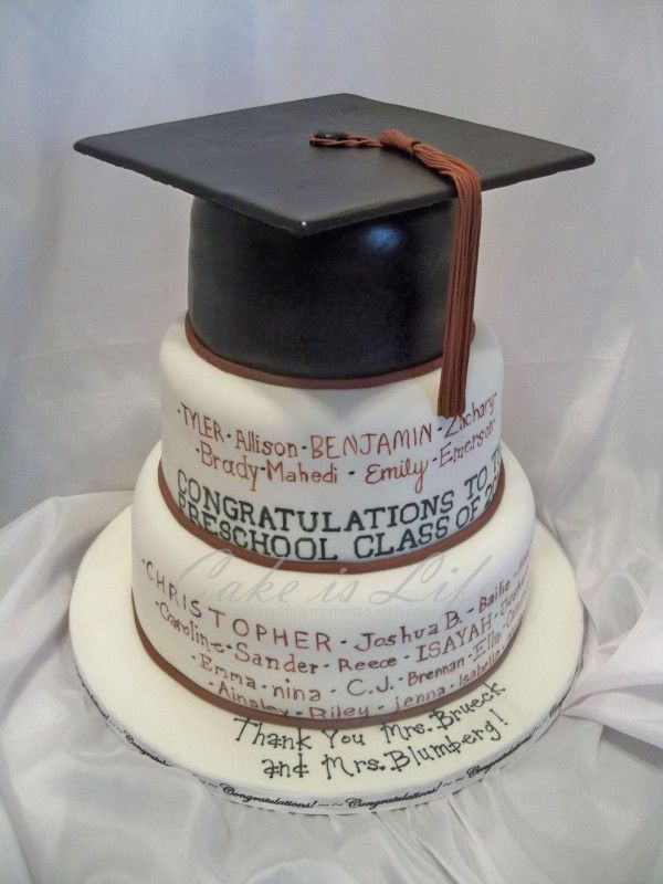 Graduation Cake Images Free : Preschool Graduation Cake Party Ideas Pinterest