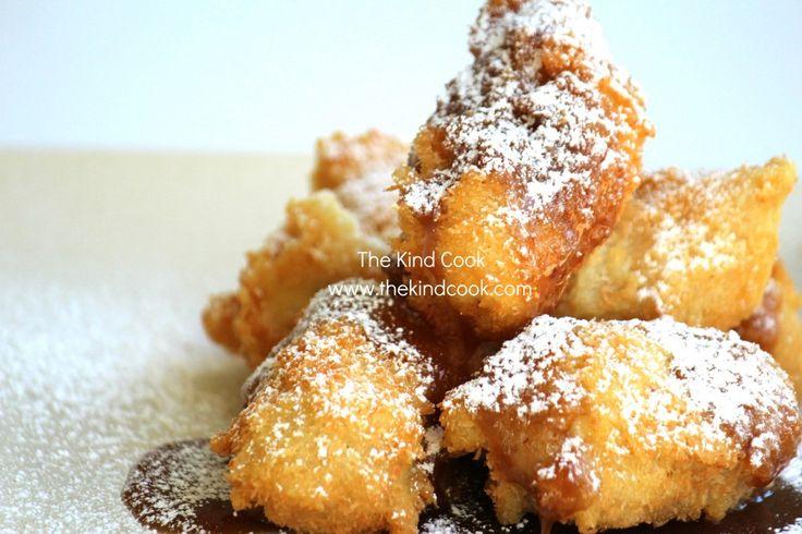 Caramel Coconut Banana Fritters | Easy Food Stuff | Pinterest