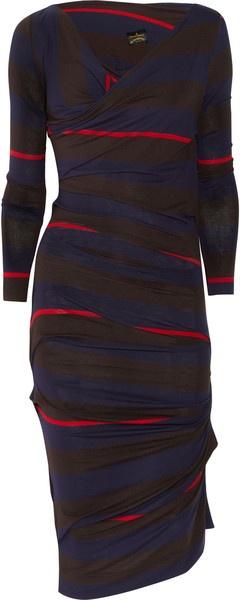 VIVIENNE WESTWOOD ENGLANDPriestess Striped Jersey Dress