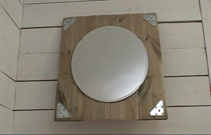 Diy miroir rond dans cadre carr brico deco pinterest for Miroir rond deco