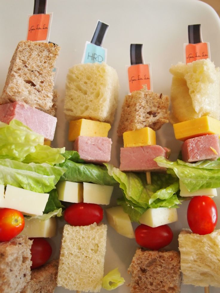 Sandwich on a Stick. | Hadley's Spa Birthday Party | Pinterest