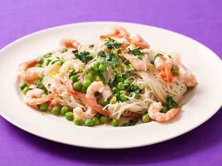 Shrimp and Pea Scampi