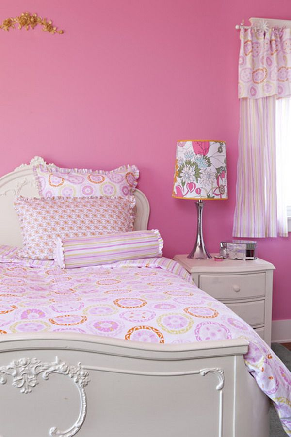 Pink girls bedroom color beautiful bedrooms pinterest for Pink bedroom designs for small rooms