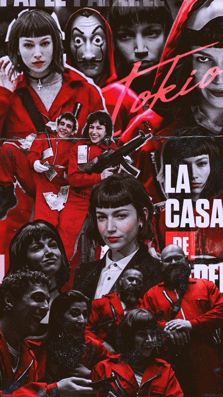 Pin Azra Ocak La Casa De Papel Pinterest Wallpaper Netflix Series Movies