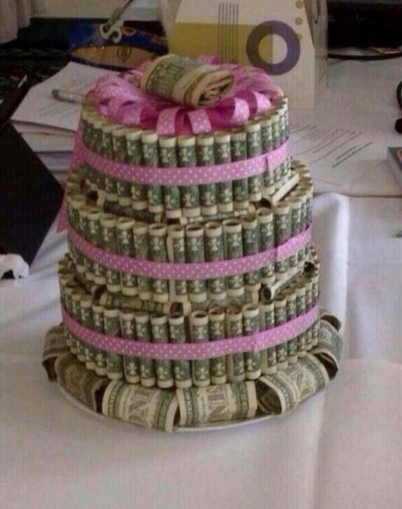 Money - birthday cake  ideas with.money  Pinterest