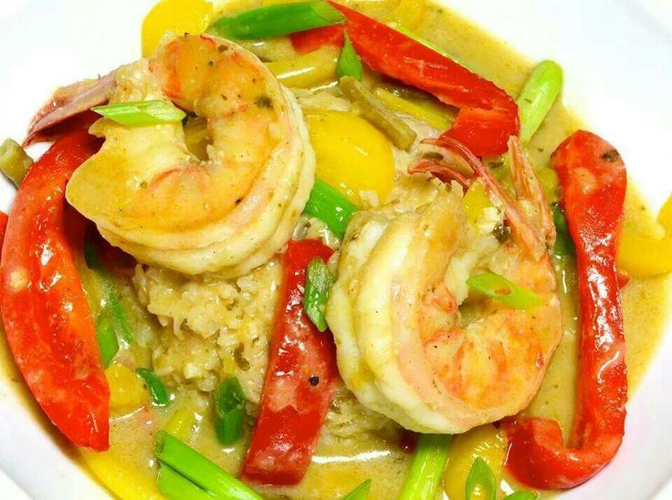 Thai green curry and shrimp | Recipes to Cook | Pinterest