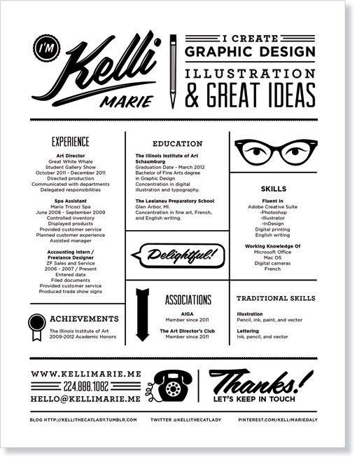 clever resume for an illustrator resume design pinterest