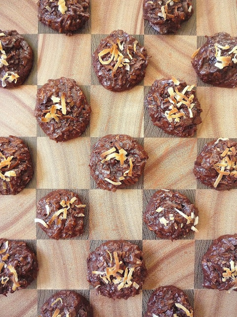 Chocolate Cherry Coconut Macaroons 2 | Being a Bear Photos | Pinterest