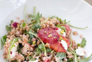 Very Important Blood Orange Farro Salad with Vanilla Bean Vinaigrette