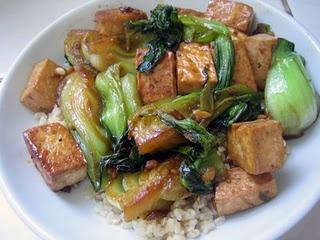 Seared Baby Bok Choy With Tofu & Shiitakes Recipes — Dishmaps
